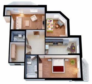 Закрытая планировка квартиры
